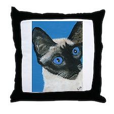 Funny Siamese cat Throw Pillow