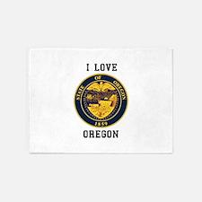 I Love Oregon Seal 5'x7'Area Rug