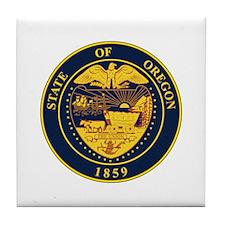 Oregon State Seal Tile Coaster