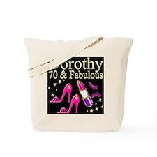 GORGEOUS 70TH Tote Bag