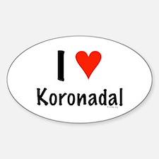 I love Koronadal Oval Decal