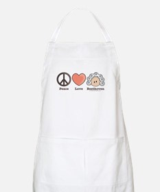 Peace Love Beethoven Cooking Art or Craft Apron