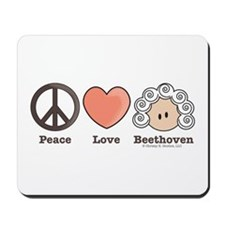 Peace Love Beethoven Mousepad