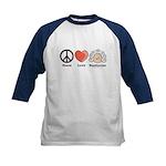 Peace Love Beethoven Kids Navy Baseball Jersey
