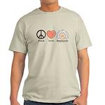 Peace Love Beethoven Grey T-Shirt