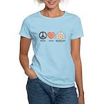 Peace Love Heart Beethoven Women's Yellow T-Shirt