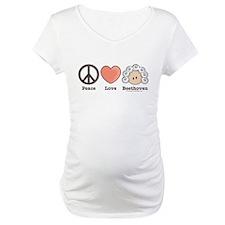 Peace Love Heart Beethoven Shirt