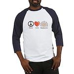 Peace Love Beethoven Navy Blue Baseball Jersey