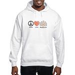 Peace Love Heart Beethoven Hooded Sweatshirt