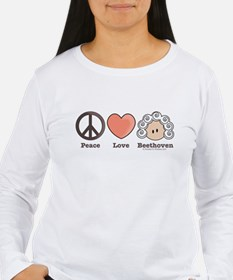 Peace Love Heart Beethoven Long Sleeve T-Shirt