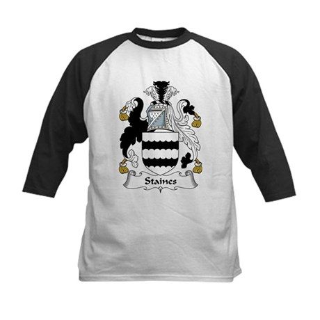 Staines Family Crest Kids Baseball Jersey