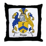 Stagg Family Crest Throw Pillow