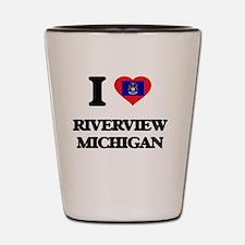 I love Riverview Michigan Shot Glass