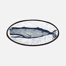 Vintage Whale Dark Blue Patch