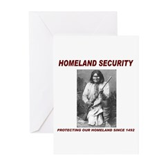 Geronimo Homeland Security Greeting Cards (Pk of 2