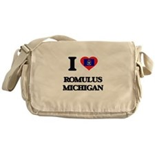 I love Romulus Michigan Messenger Bag