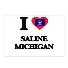 I love Saline Michigan Postcards (Package of 8)