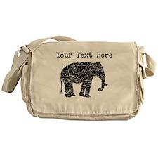 Distressed Elephant Silhouette (Custom) Messenger