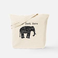 Distressed Elephant Silhouette (Custom) Tote Bag
