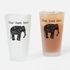 Distressed Elephant Silhouette (Custom) Drinking G
