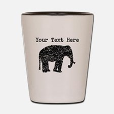 Distressed Elephant Silhouette (Custom) Shot Glass