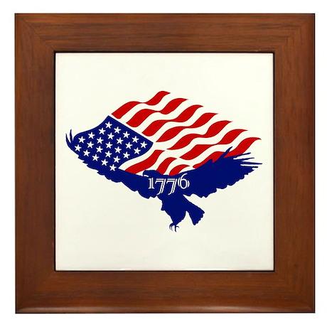 Pride of 1776 Flag/Eagle Framed Tile