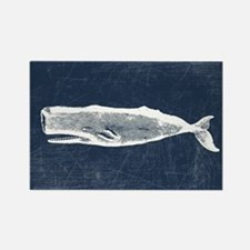 Vintage Whale White Rectangle Magnet
