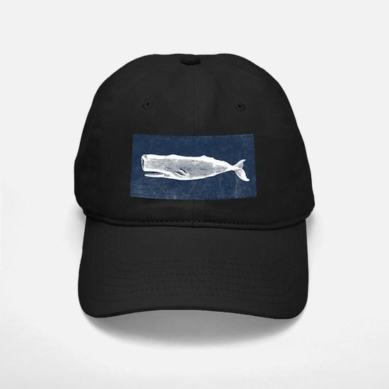 Vintage Whale White Baseball Hat
