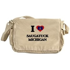 I love Saugatuck Michigan Messenger Bag
