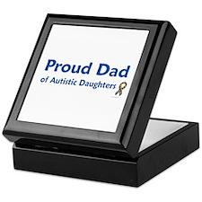 Proud Dad Of Autistic Daughters Keepsake Box