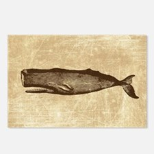 Vintage Whale Brown Postcards (Package of 8)