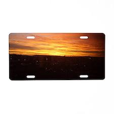 Cute Cityscape Aluminum License Plate