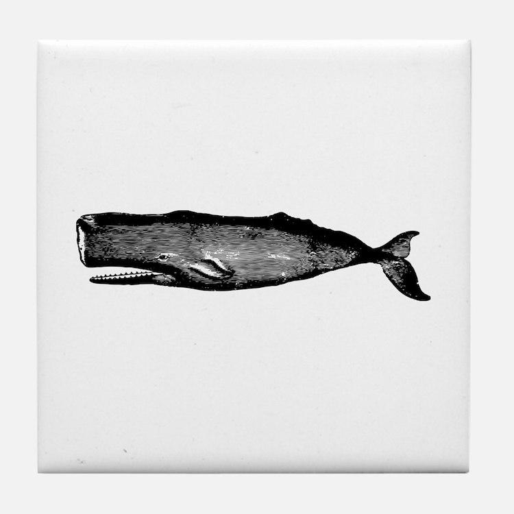 Vintage Whale Tile Coaster