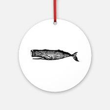 Vintage Whale Ornament (Round)