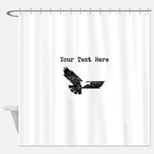 Distressed Eagle Silhouette (Custom) Shower Curtai