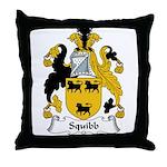 Squibb Family Crest Throw Pillow