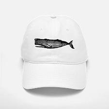 Vintage Whale Baseball Baseball Cap