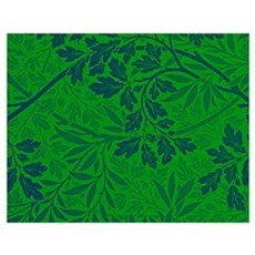 William Morris - Foliage, Warhol Effect in Navy Bl Poster