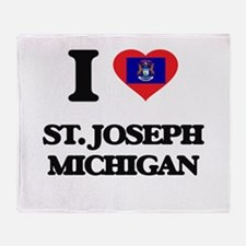 I love St. Joseph Michigan Throw Blanket