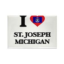 I love St. Joseph Michigan Magnets