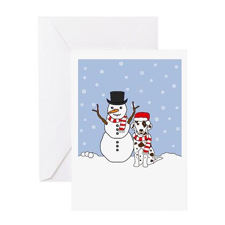 Dalmatian Howling Holiday Greeting Card