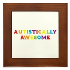 Autistically Awesome Framed Tile