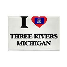 I love Three Rivers Michigan Magnets