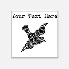 Distressed Dove Silhouette (Custom) Sticker
