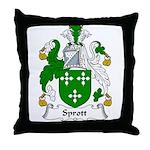 Sprott Family Crest Throw Pillow