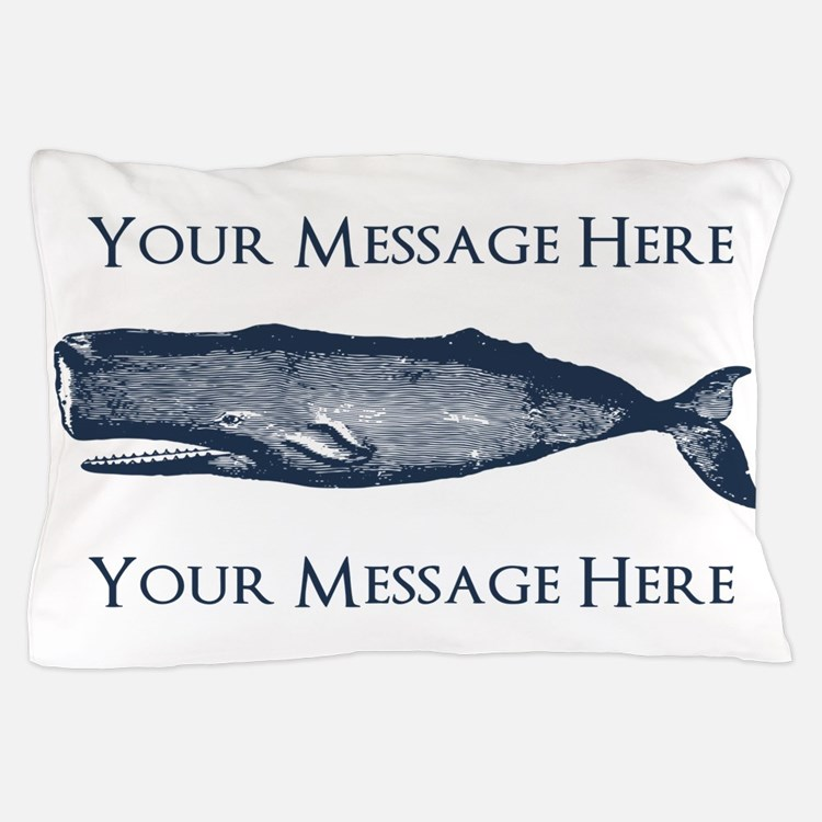 PERSONALIZED Vintage Whale Pillow Case