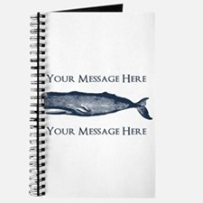 PERSONALIZED Vintage Whale Journal
