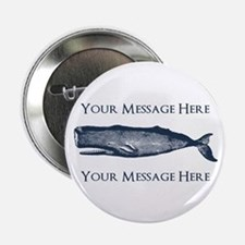 "PERSONALIZED Vintage Whale 2.25"" Button"