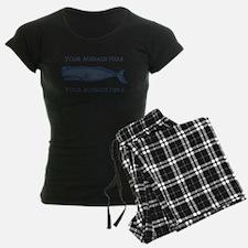 PERSONALIZED Vintage Whale pajamas