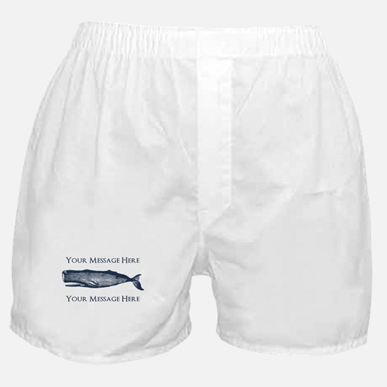 PERSONALIZED Vintage Whale Boxer Shorts